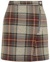 Topshop Check a-line skirt