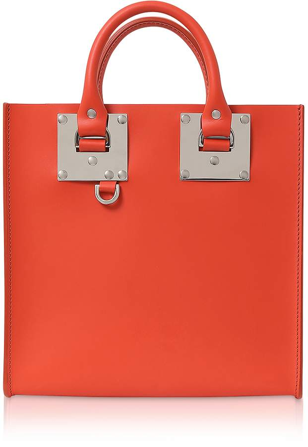 Sophie Hulme Saddle Leather Square Albion Tote