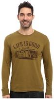 Life is Good Airstream Long Sleeve Crusher Tee