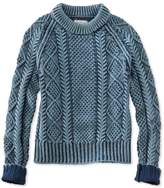 L.L. Bean Signature Cotton Fisherman Sweater, Washed