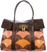 Mulberry Snakeskin-Accented Bayswater Bag