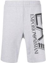 Emporio Armani Ea7 logo-print pull-on track shorts
