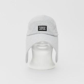 Burberry Logo Applique Cotton Jersey Bonnet Cap