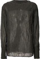 Yang Li semi-sheer longsleeved T-shirt