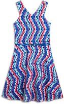 Us Angels Girls' Geo Print Flared Dress
