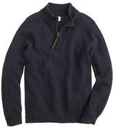 J.Crew Boys' cotton-cashmere half-zip sweater