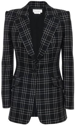 Alexander McQueen Welsh Check Wool Single Breast Jacket