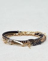 American Eagle Outfitters AE Black & Gold Arm Party Bracelets