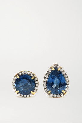 Sylva & Cie 18-karat Gold, Sapphire And Diamond Earrings - one size