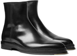 Dunhill Leather Chelsea Boots - Black