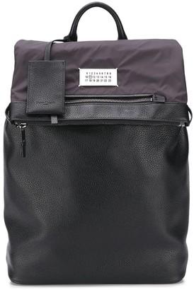Maison Margiela Bi-Material Logo Patch Backpack