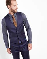 Ted Baker Wool Waistcoat Dark Blue