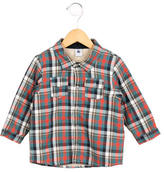 Petit Bateau Boys' Plaid Long Sleeve Jacket