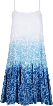 Juliet Dunn Ombre Floral Cotton Mini Dress