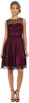 Eliza J Sequin Dot Mesh Overlay Dress