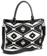 Mossimo Zip Closure Fabric Weekender Bag Black Supply Co.;