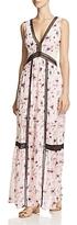 Aqua Floral V-Neck Maxi Dress - 100% Exclusive
