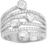 Tiara 1 6/7 CT TW Cubic Zirconia Sterling Silver Fashion Ring
