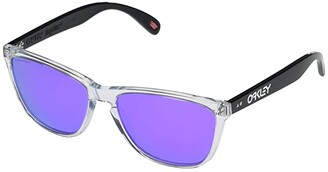 Oakley 57 mm Frogskins 35th Anniversary (Polished Clear Frame Prizm Violet Lens) Fashion Sunglasses