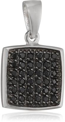 Pasionista Women's Pendant 925 Silver Rhodium-Plated Zirconia Black 640198 Brilliant Cut Diamonds