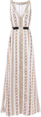 Temperley London Spirit Metallic Jacquard Maxi Dress
