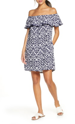 Tommy Bahama Diamond Ikat Ruffle Cover-Up Dress