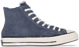 Converse Chuck Taylor shearling-trimmed high top sneakers
