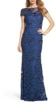 La Femme Women's Lace Overlay Gown
