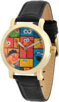 Sesame Street Womens Black Strap Watch-Wss000005