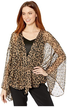 Vince Camuto Metallic Leopard Cocoon (Natural) Women's Clothing