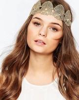 Orelia Gold Festival Hair Crown