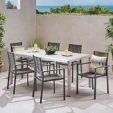 Bronx Ivy Lindner 7 Piece Dining Set Ivy Color: Gray/Silver