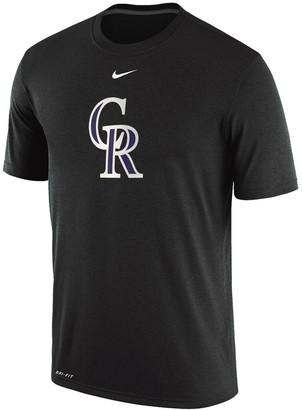 Nike Men's Black Colorado Rockies Legend Primary Logo Performance T-Shirt