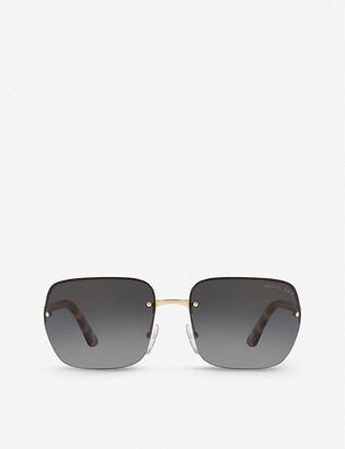 Prada PR 63VS 62 Heritage metal and acetate pillow-frame sunglasses