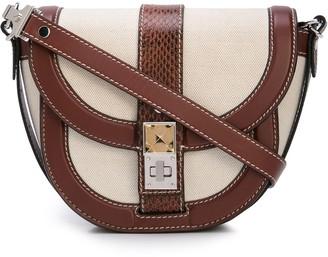 Proenza Schouler Exotic Canvas PS11 Small Saddle Bag