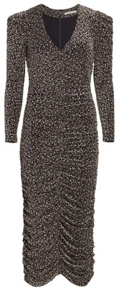 Jonathan Simkhai Edith Metallic Jacquard Midi Dress