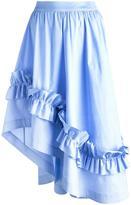 Cédric Charlier gathered waist ruffled skirt