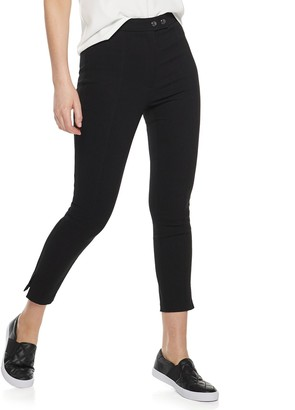 Nine West Women's Moto Snaps High Rise Skinny Pants