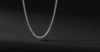 David Yurman Medium Box Chain In 18K White Gold