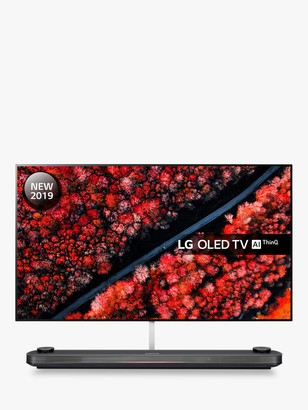 LG Electronics OLED77W9PLA (2019) SIGNATURE OLED HDR 4K Ultra HD Smart TV, 77 with Freeview Play/Freesat HD, Picture-On-Wall Design & Dolby Atmos Sound Base Unit, Ultra HD Certified, Black