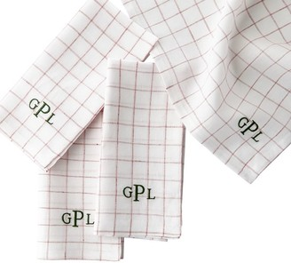 Mark And Graham Windowpane Linen Dinner Napkins, Set of 4