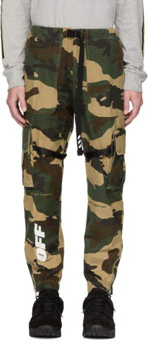 Off-White Off White Green Camo Parachute Cargo Pants