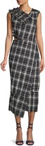 Jason Wu Collection Crinkle Plaid Asymmetrical Dress