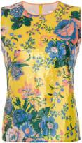 Dvf Diane Von Furstenberg floral sequin shell top