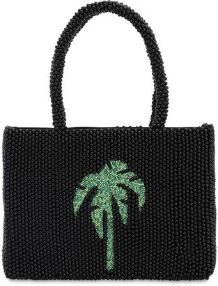 Rixo Bianca Palm Tree Beaded Acrylic Tote