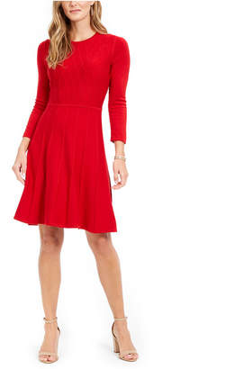 Jessica Howard Petite Textured Sweater Dress