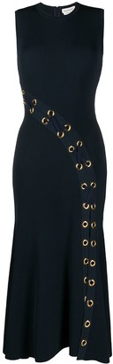 Alexander McQueen Eyelet Rib-Knit Dress