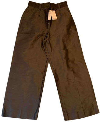 Marc Jacobs Green Silk Trousers