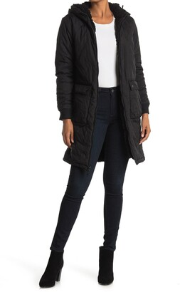 Thread and Supply Snowshoe Faux Shearling Lined Quilted Hooded Jacket