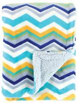 Hudson Baby Blue & White Zigzag Double-Layer Blanket